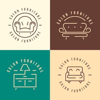 Коллекция шаблонов логотипа мебели