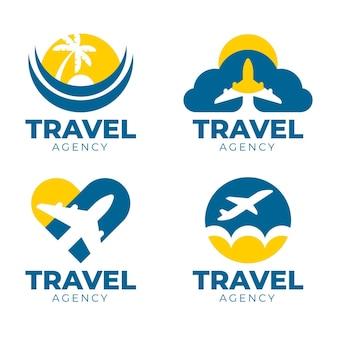 旅行のロゴのテンプレートセット