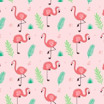 Красочный узор фламинго