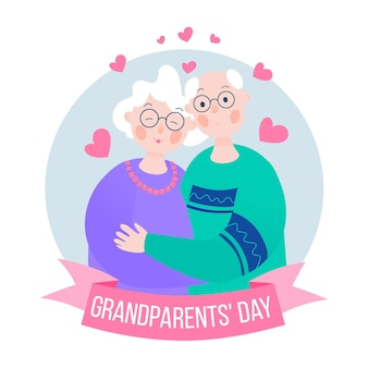 フラットなデザインの祖父母の日