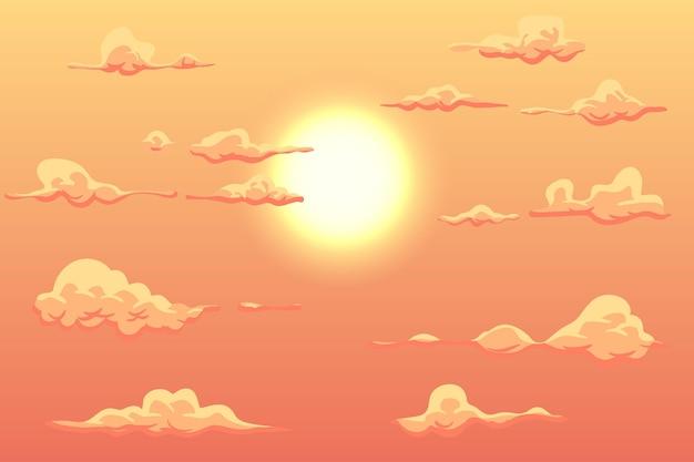 オンラインビデオ会議のための日光の背景の空
