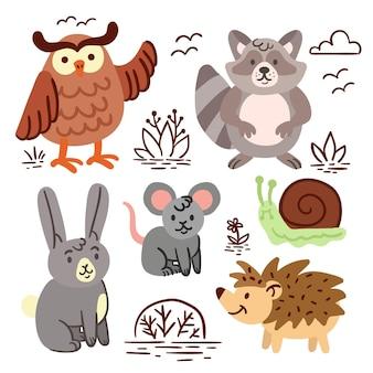 Ручной обращается осенние лесные животные
