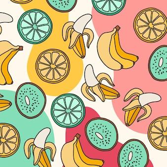 Летний узор с фруктами