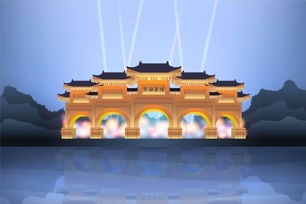 街のランドマーク-ビデオ会議の背景