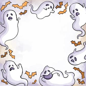Акварель хэллоуин кадр концепции