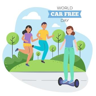 Ручной обращается мировой день без автомобиля