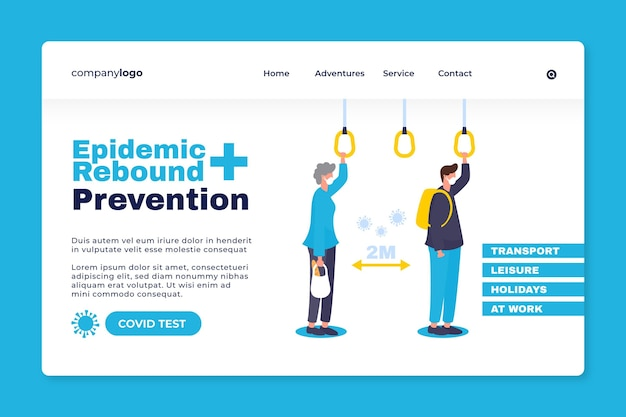 Предотвратить эпидемический отскок - целевая страница