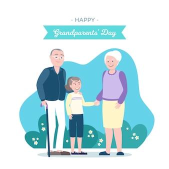 フラット祖父母の日米国