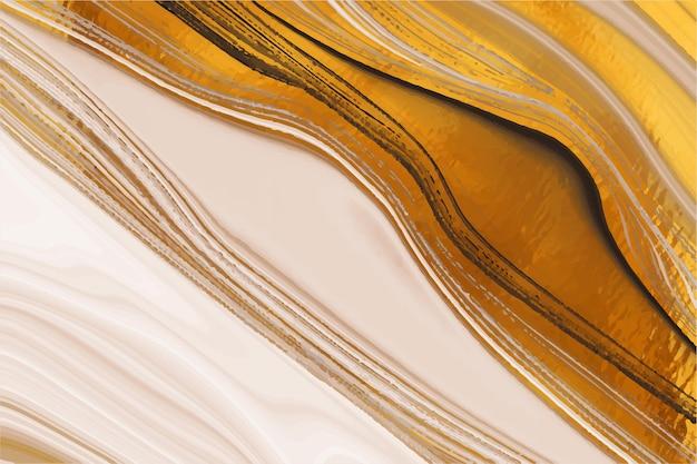 Жидкий мраморный фон с золотой глянцевой текстурой