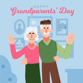 手描きの祖父母の日アメリカ