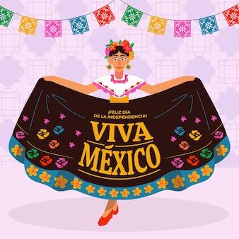 手描きメキシコ独立記念日