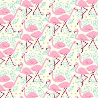 Концепция коллекции шаблон фламинго