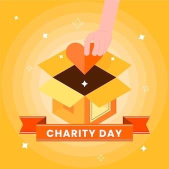 フラットデザイン国際チャリティーコンセプトの日