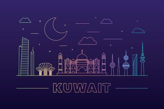 Линейный горизонт кувейта
