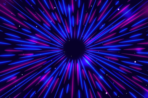 Синий и фиолетовый скорость фонари
