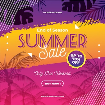 Летняя распродажа в конце сезона