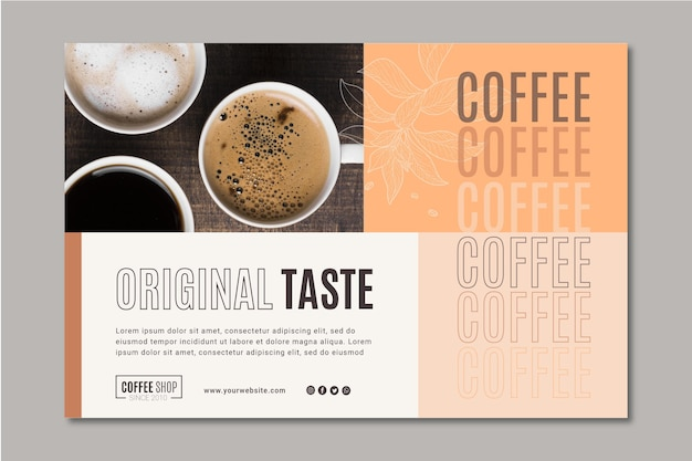 コーヒーバナーテンプレート