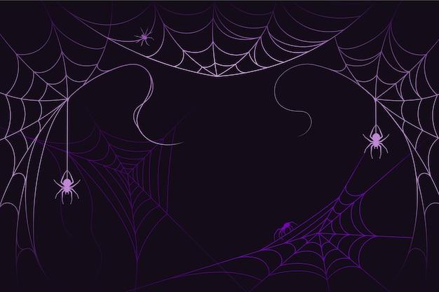 ハロウィーンのクモの巣の背景デザイン