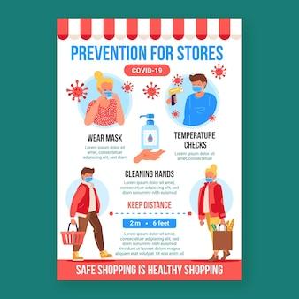 Плакат о профилактике коронавируса для магазинов