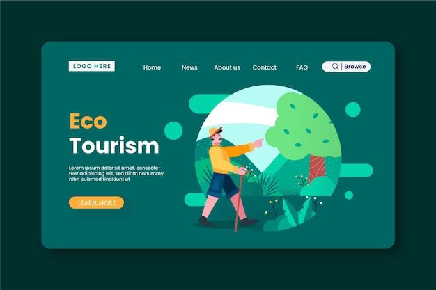 エコ観光ランディングページテンプレート