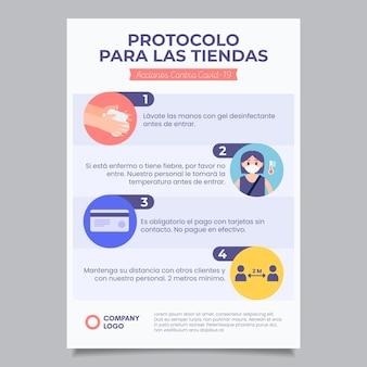 ビジネスポスターのためのコロナウイルスプロトコル