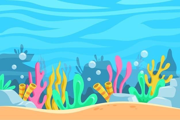 ビデオ会議の水中背景