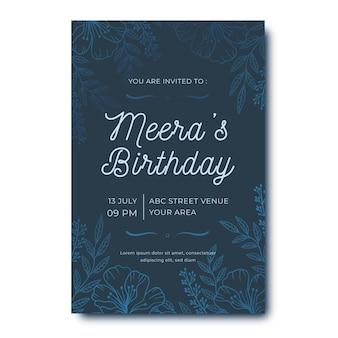 エレガントな誕生日の招待状