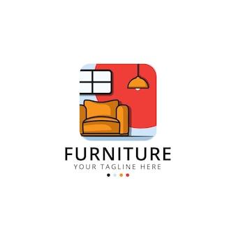 Мебельный логотип с креслом
