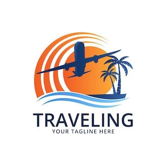 詳細な旅行ロゴ