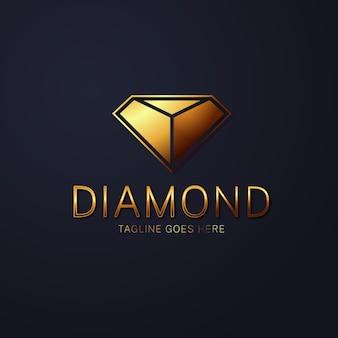 Элегантный алмазный логотип