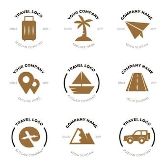 Коллекция логотипов путешествия