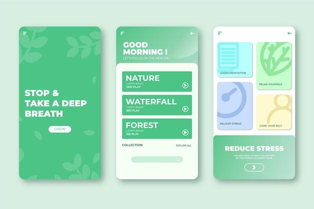 瞑想アプリケーションのインターフェース