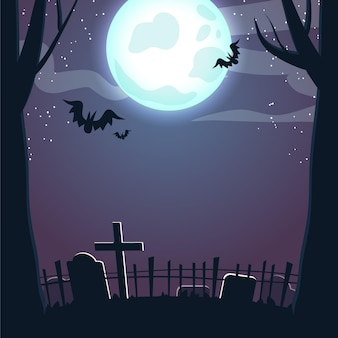 夜のハロウィンフレーム