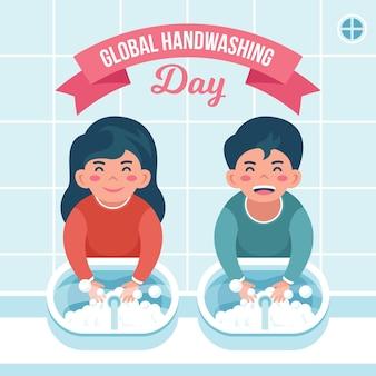 Иллюстрация глобального дня мытья рук