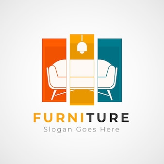 Дизайн шаблона логотипа мебели