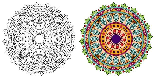 装飾的なマンダラデザインのカラーリング