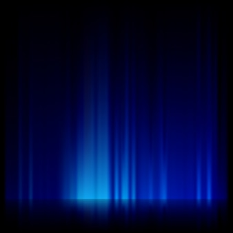 Синий свет и полосы движутся быстро.