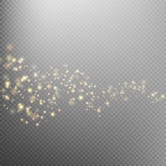 След сверкающей золотой звездной пыли.