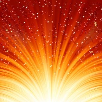 抽象的な火の輝きの背景。