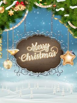 クリスマスヴィンテージ看板。