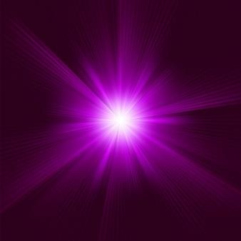 破裂した紫色。