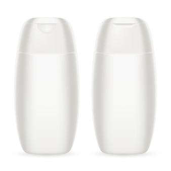 シャンプーホワイトプラスチックボトル。