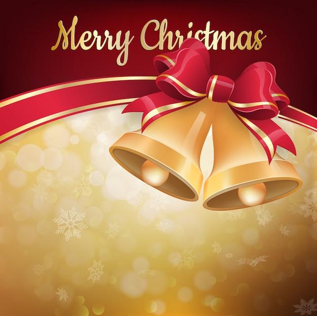 クリスマスの鐘と背景。