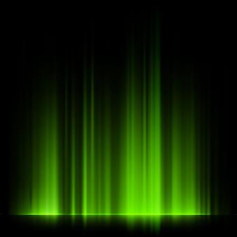 Зеленое северное сияние, северное сияние.