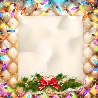 クリスマスのグリーティングカード。
