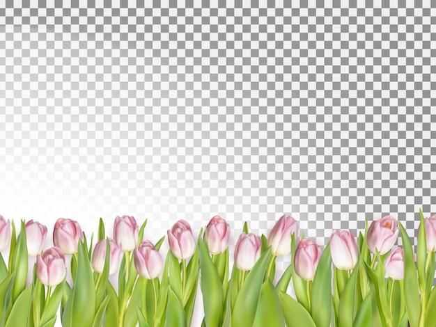 春のシームレスな境界線の背景。
