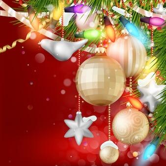 つまらないとクリスマスツリーのクリスマスの背景。