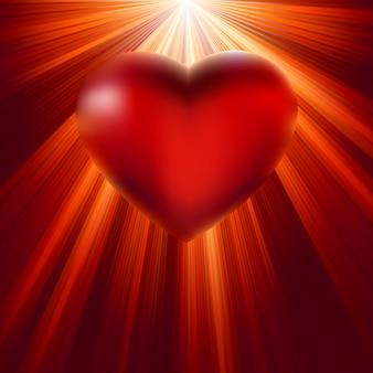 愛の光で輝く心。