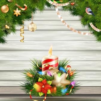 Рождественская свеча иллюстрации.