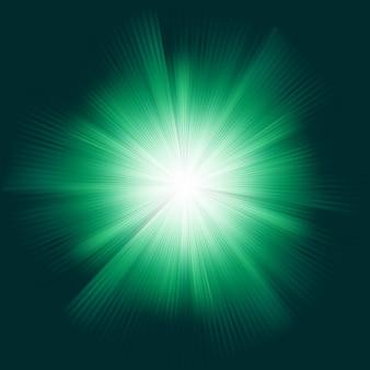 バーストでグリーンカラーデザイン。含まれるファイル